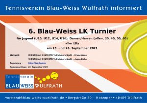Read more about the article 6. Blau-Weiss LK-Turnier