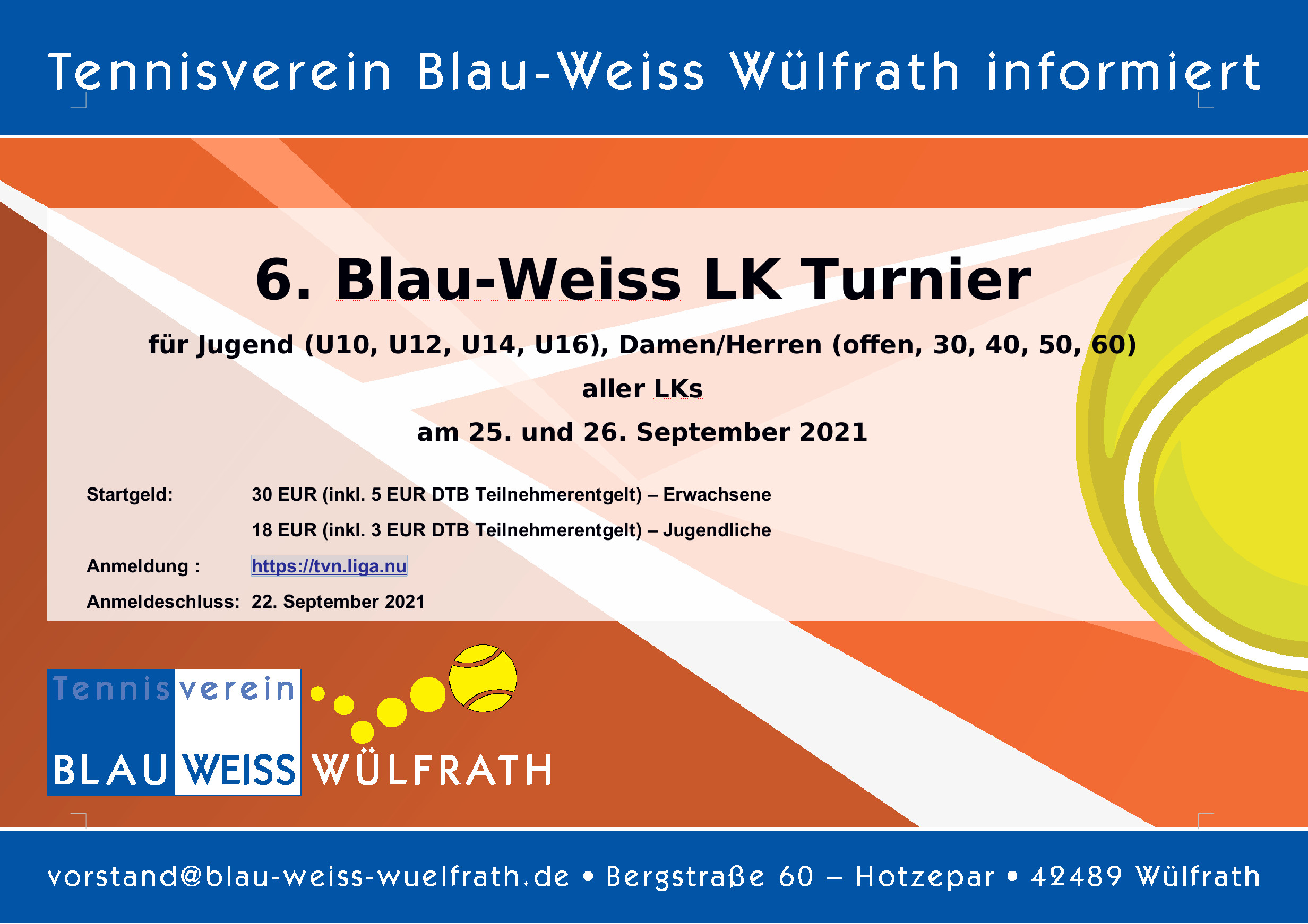 You are currently viewing 6. Blau-Weiss LK-Turnier